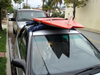 Temporary roof rack system for paddleboards