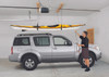 storing a kayak overhead in garage