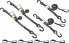 "1"" wide ratchet tie down straps and cam buckle kit"