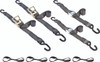 "2"" wide heavy duty ratchet tie down straps and cam buckle kit with loops"