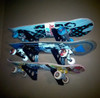 skateboard wall rack for 3 skateboards
