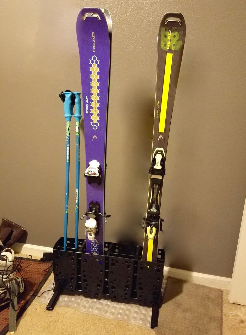 Powder Ski Rack Free Standing 4 Pairs Storeyourboard Com