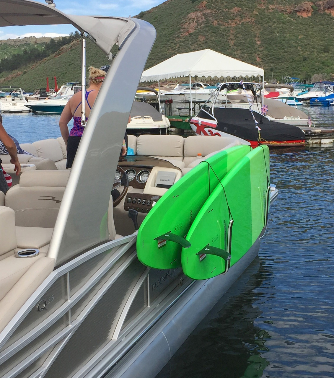 Sup Rack For Pontoon Boats Storeyourboard Com
