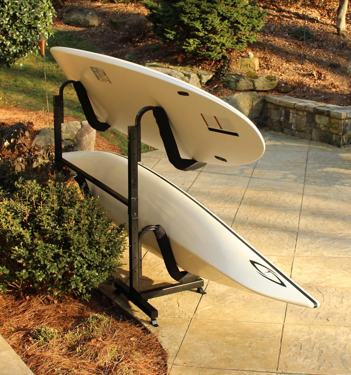 Heavy Duty Metal Kayak Freestanding Storage Rack Indoor