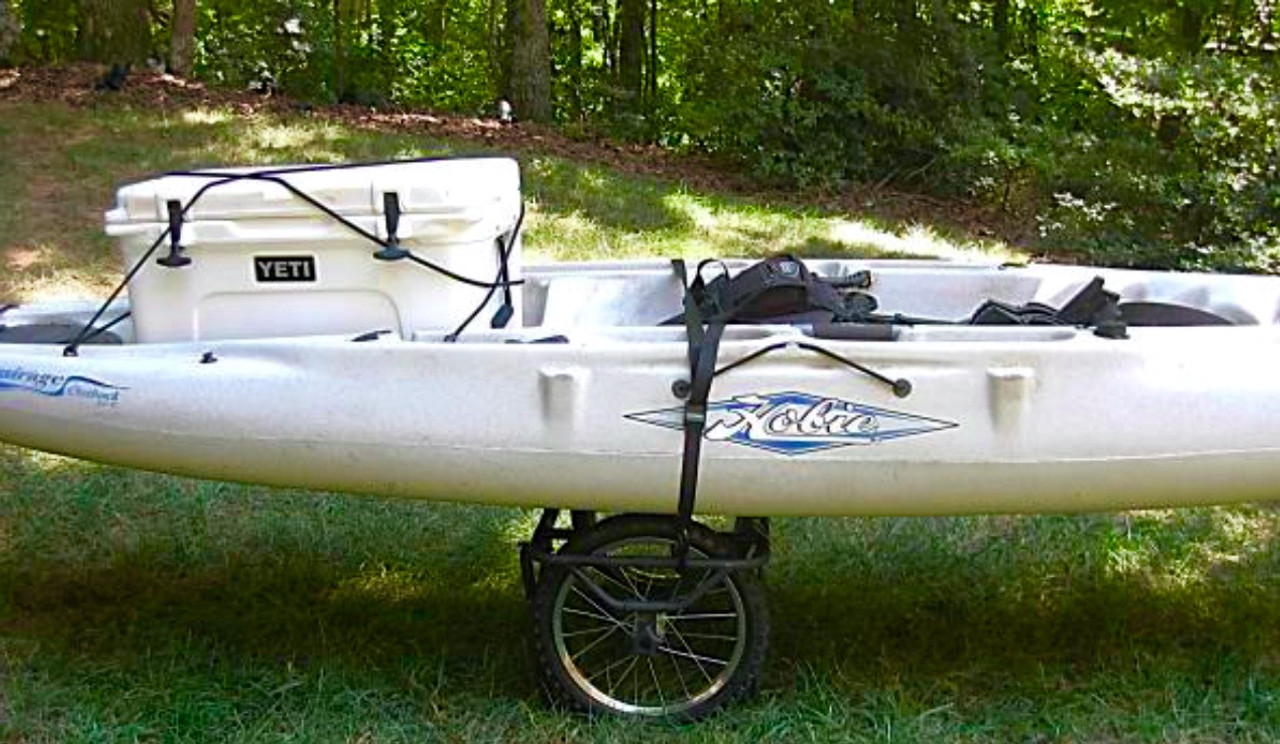 Fishing kayak trailer cart heavy duty with oversized for Fishing kayak trailer