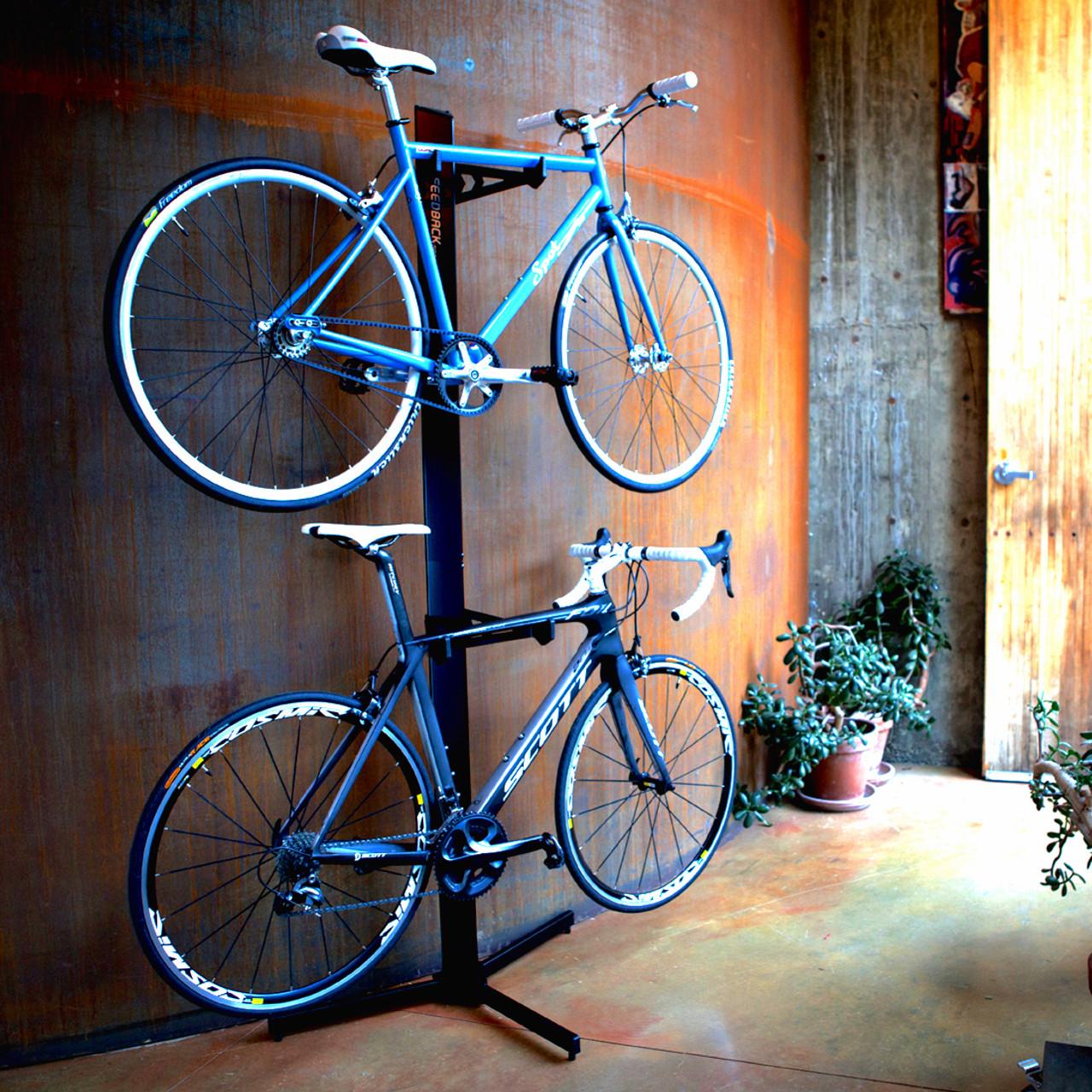 Two Bike Freestanding Storage Rack Storeyourboard Com