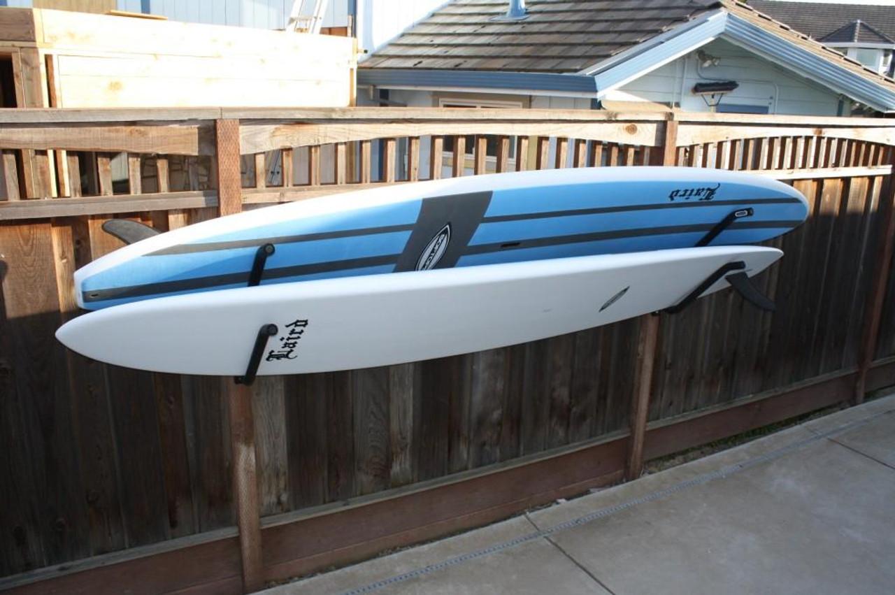 double on-rail surfboard rack   gatekeepers