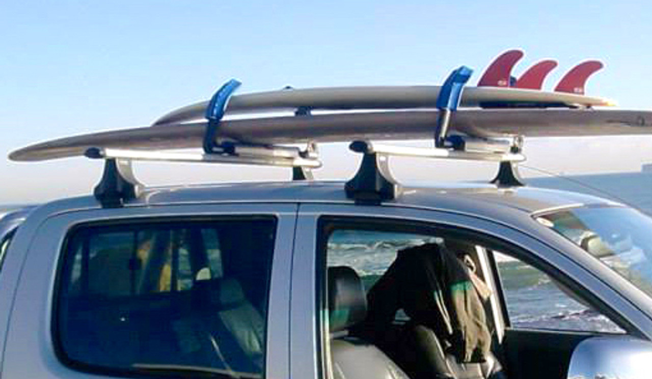 Strapless Surfboard Roof Rack Quick Locking Adjustable