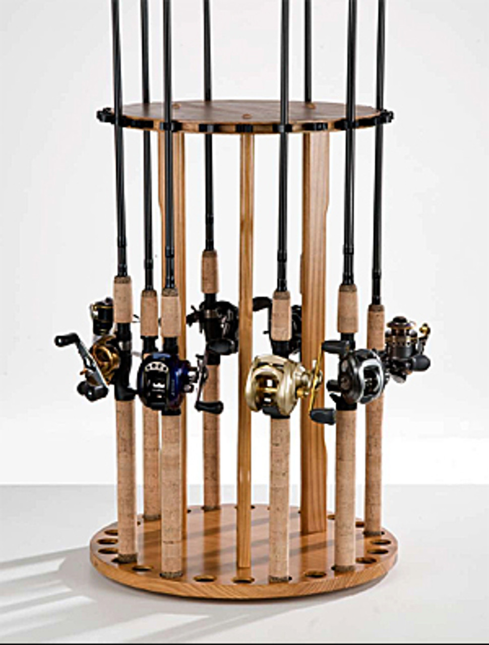 24 fishing rod rack