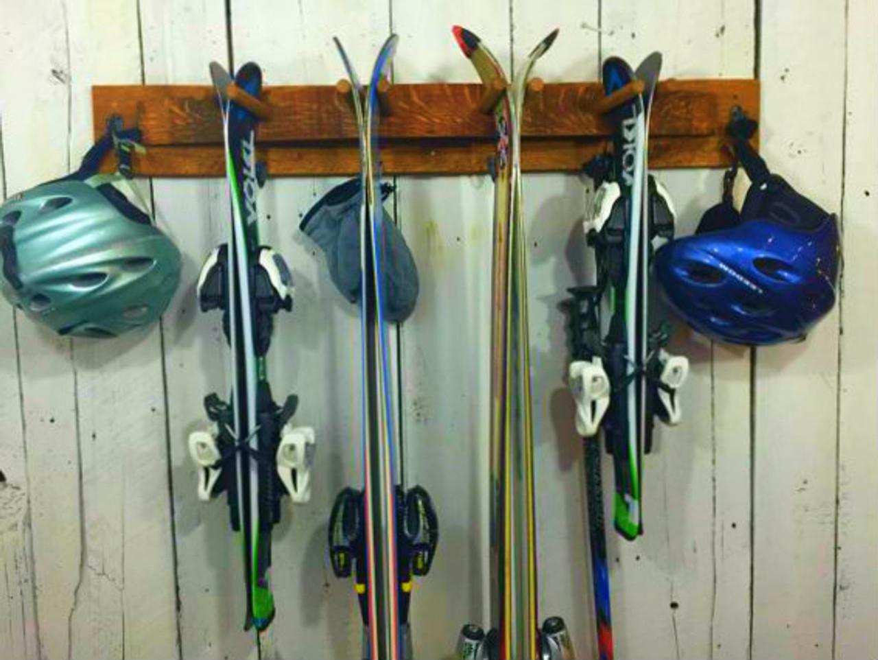 wood ski rack