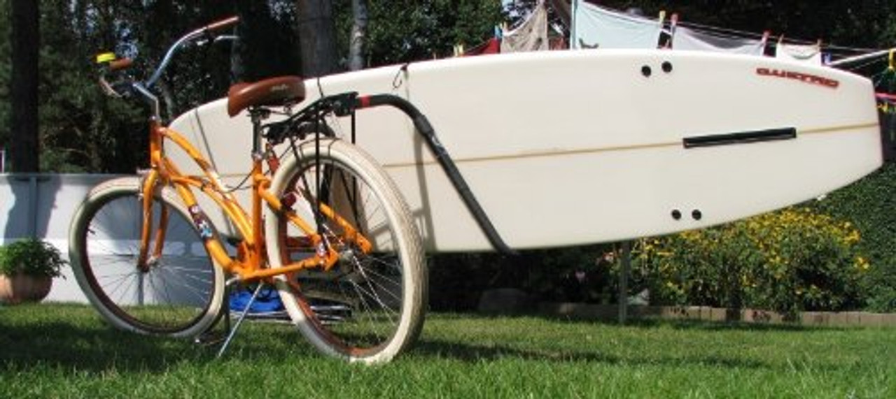 Longboard surfboard bike rack