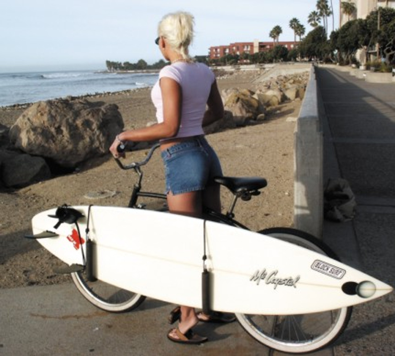 surfboard side rack for bike