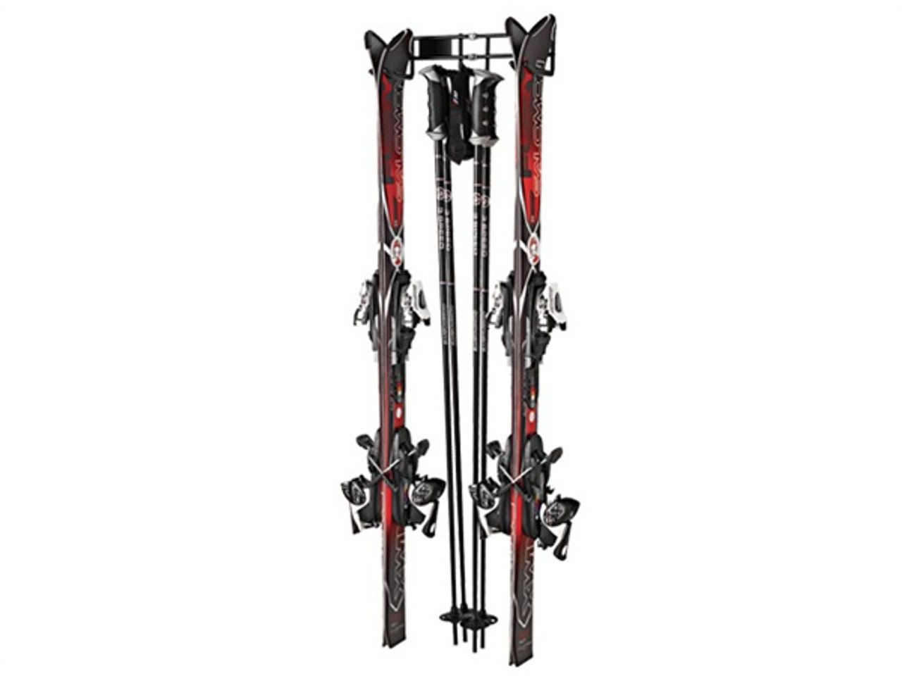 two (2) ski storage wall rack
