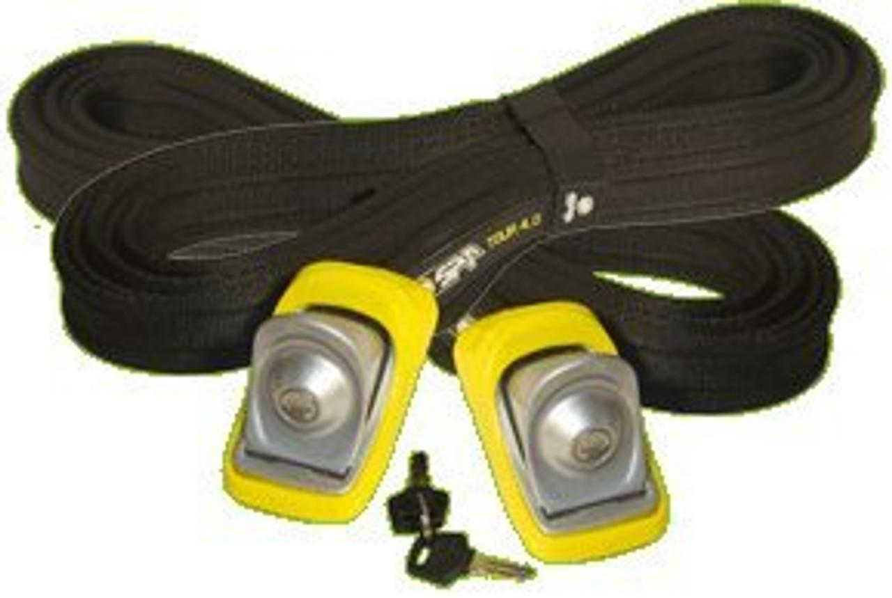 locking ski straps