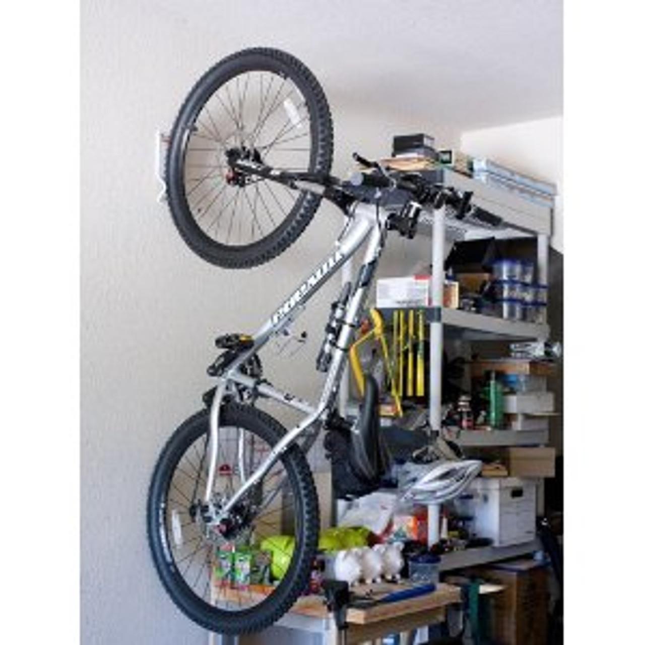 single vertical bike rack