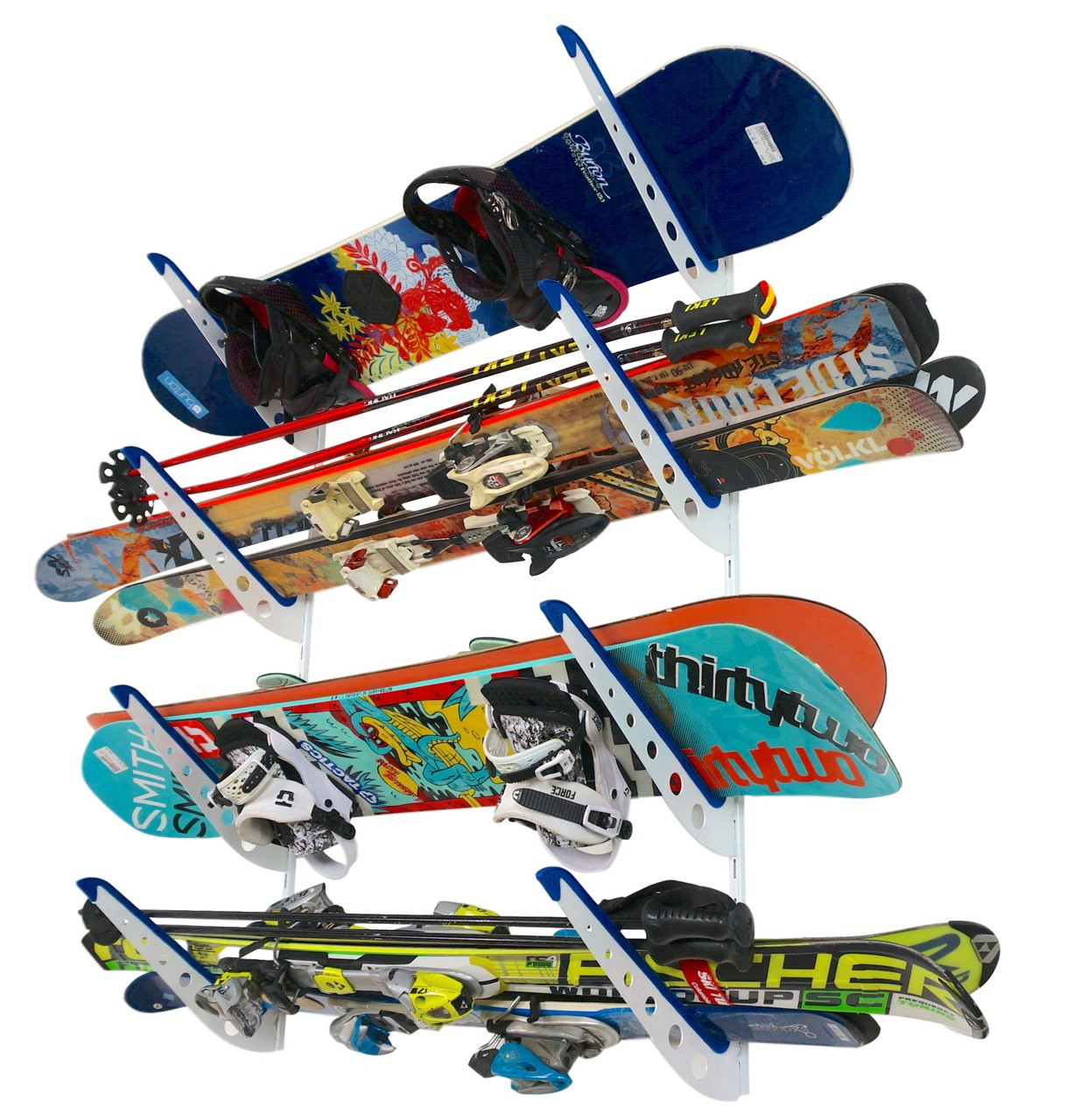 ski and snowboard wall storage rack
