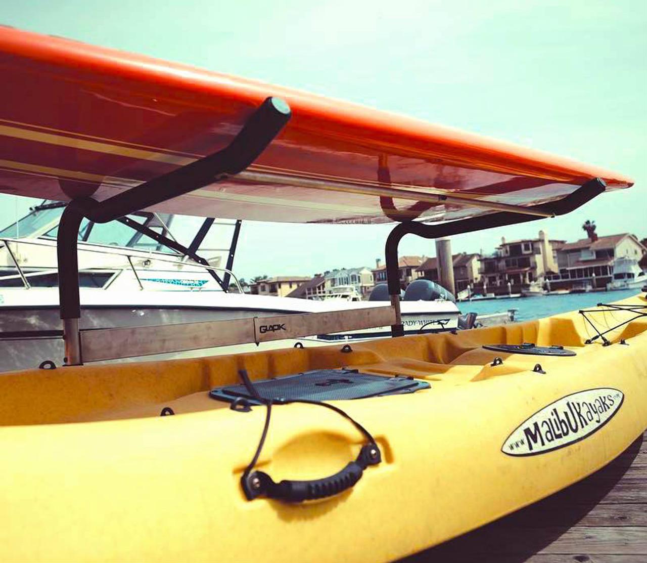 outdoor stainless steel kayak rack