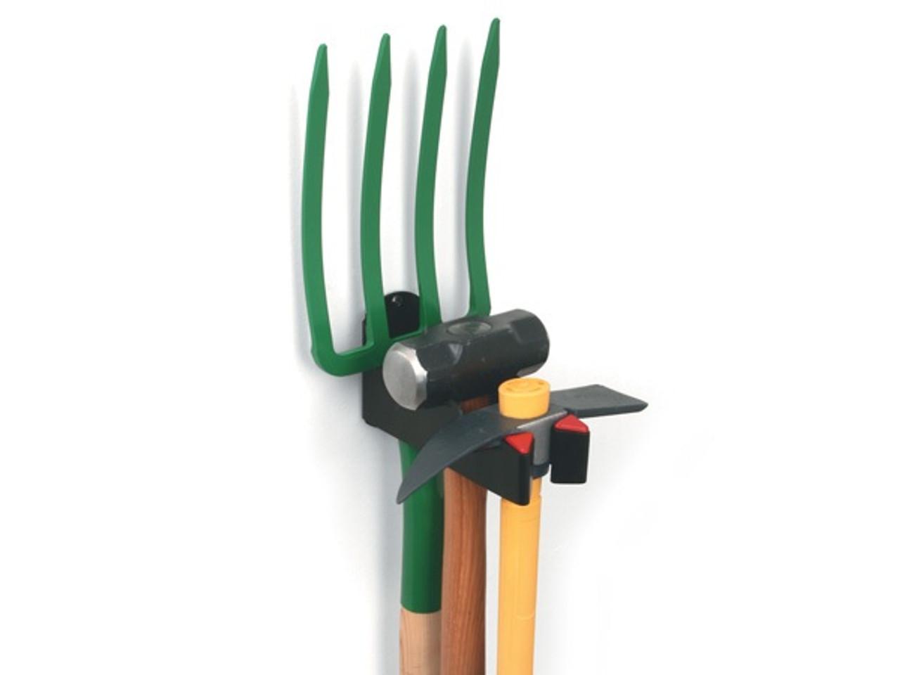 secure garage tool rack
