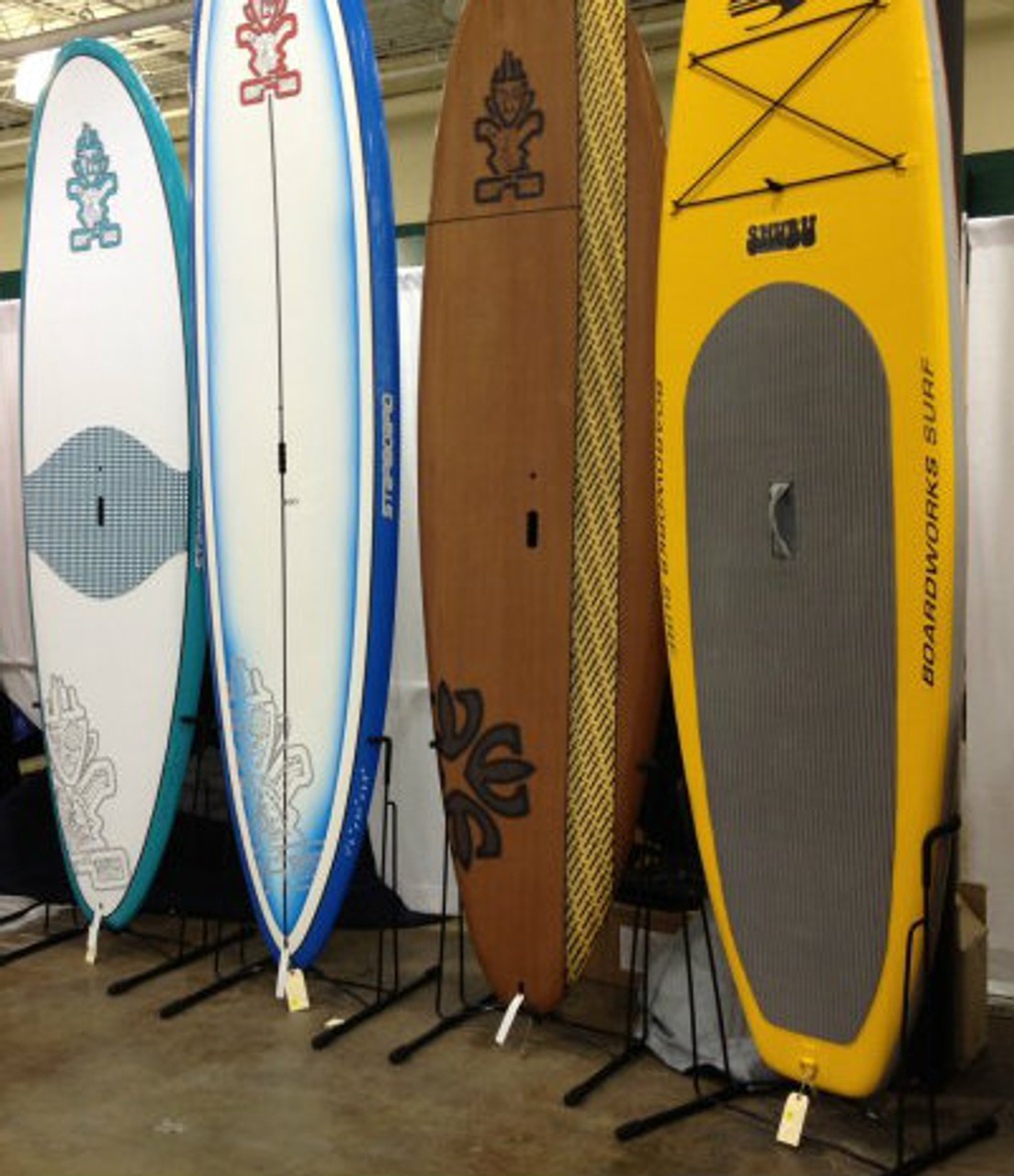 retail freestanding SUP display rack