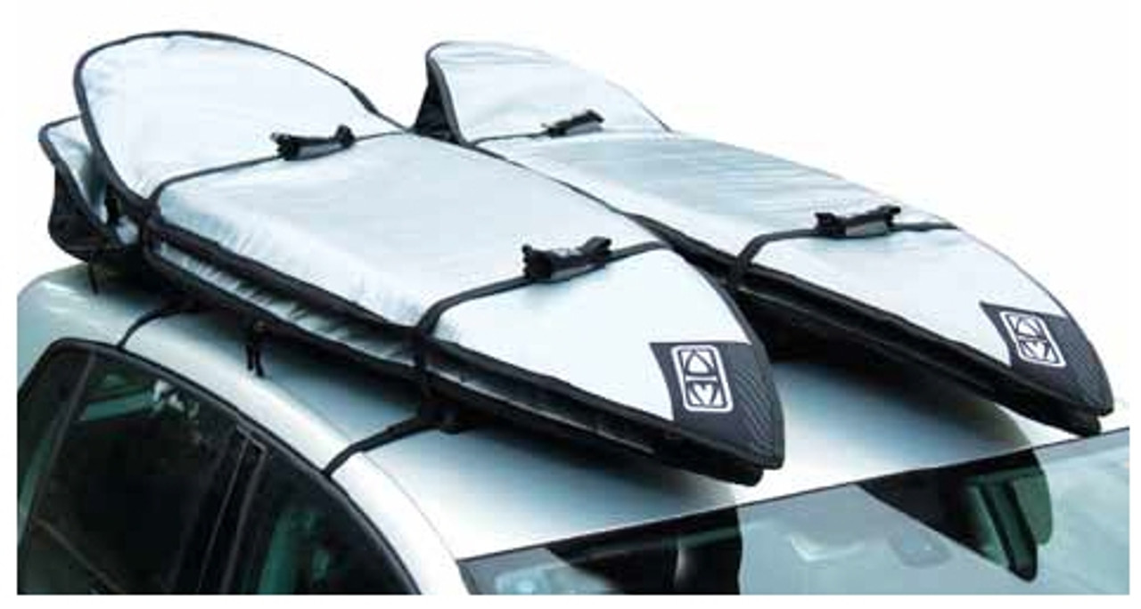 double roof rack pads for surfboards ocean and earth