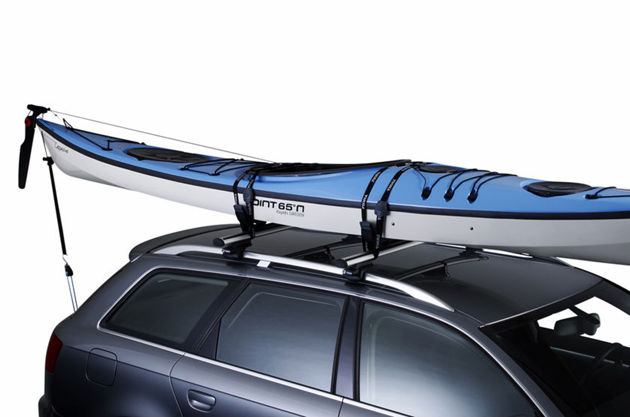 Thule bow and stern tie downs with ratchet