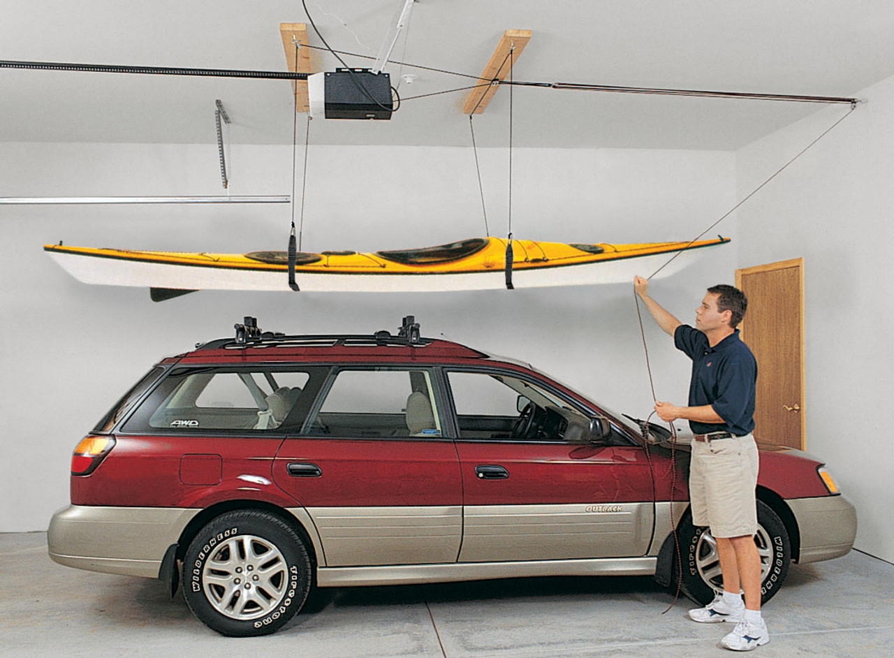 suspenz ceiling hoist for kayaks and canoes
