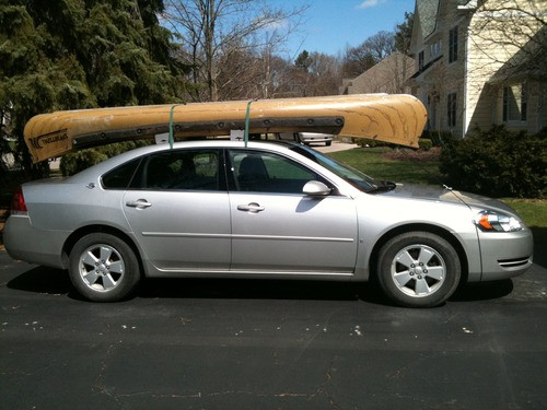 foam block canoe rack