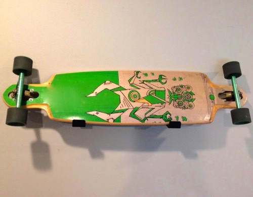 wall storage rack for longboard skateboard