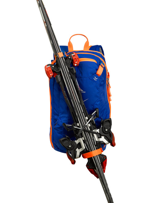 how to transport skis with a backpack