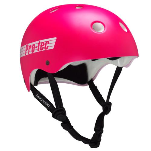 retro pink skate helmet
