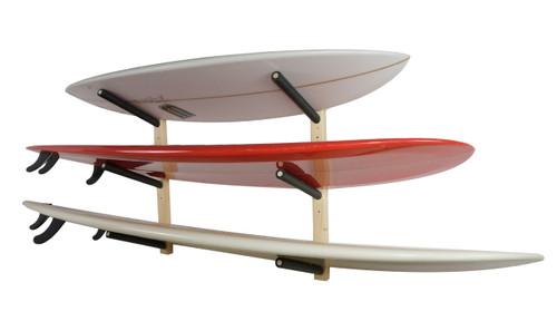 wood surfboard rack