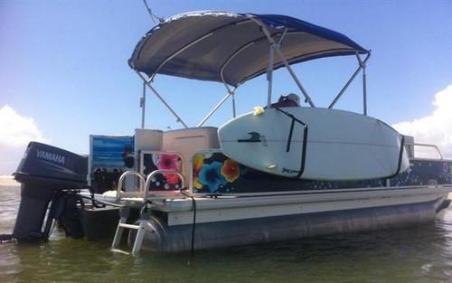 sup rack for pontoon boats