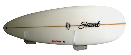 clear surfboard wall rack