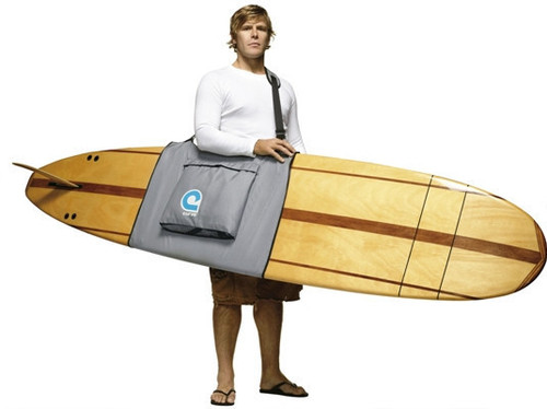 Longboard surfboard shoulder bag carrier