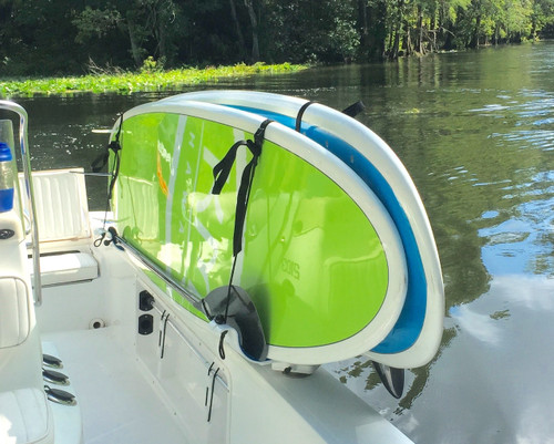 paddleboard center console fishing boat rack