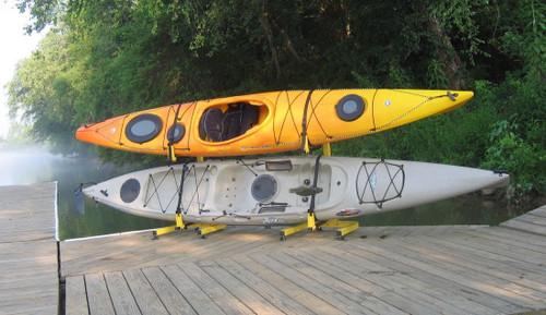 Fishing Kayak Freestanding Rack   2 Kayak Storage