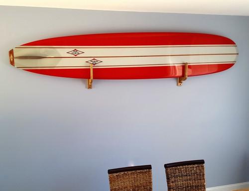 classic surfboard wood rack