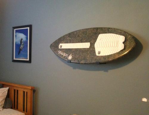 wall skimboard storage