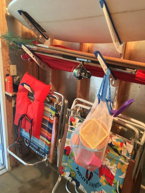 beach gear storage at home