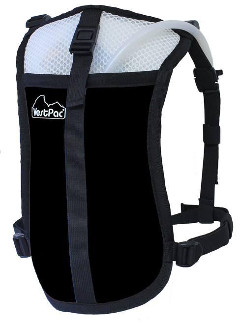 black minimalist hydration pack