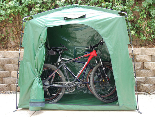 weatherproof bicycle storage tent