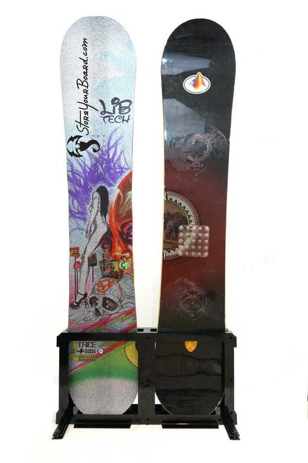 freestanding snowboard rack 4 boards
