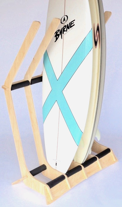wood floor surf stand