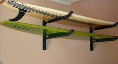 double horizontal surfboard wall rack