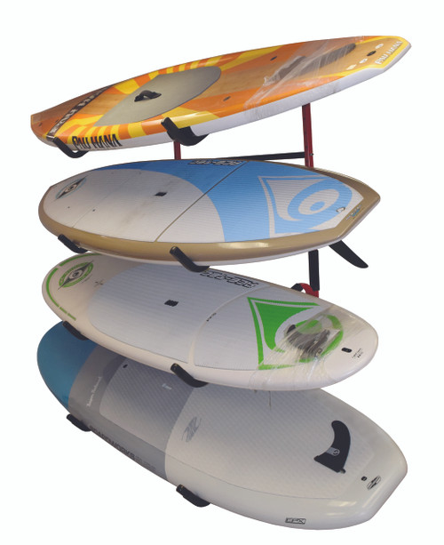 Quad SUP Display Rack | Fits 4 Paddleboards on Angled Arms