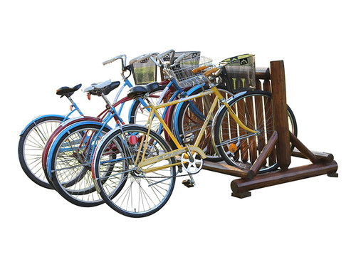 log bike rack