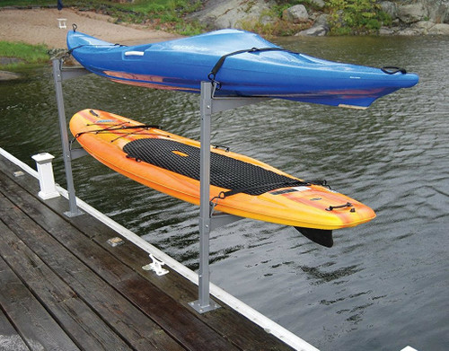 2 Kayak or SUP Dock Rack | Stores Boats Over the Water