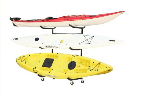 Clearance  3 Kayak & SUP Rack   Indoor-Outdoor Freestanding Storage   Demo