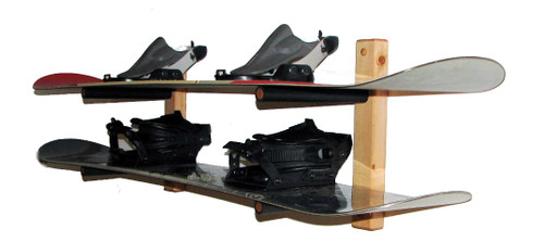snowboard wood storage rack 2 boards