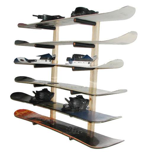 snowboard wall rack 6 boards